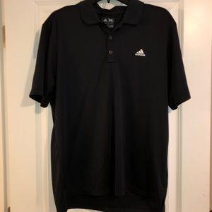 Men's Adidas Black Polo Size L
